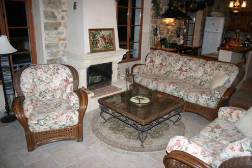 Fireplace in Fayence France